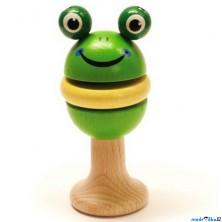 Chrastítko - Hračka do ruky, Figurka žabka (Detoa)