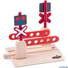 Vláčkodráha přejezdy - Železniční přejezd se závorami (Woody)