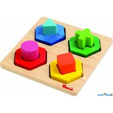 Vkládačka - Geometrické tvary na desce (Voila)
