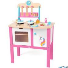 Kuchyňka dětská - Dřevěná, Jednorožec (Woody)