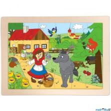 Puzzle na desce - Červená karkulka, 24ks (Woody)