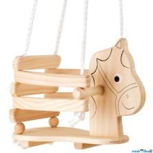 Houpačka - Dřevěná přírodní s koňskou hlavou (Legler)