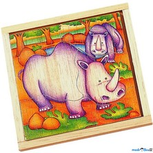 Puzzle pro nejmenší - Na desce, Nosorožec (Voila)