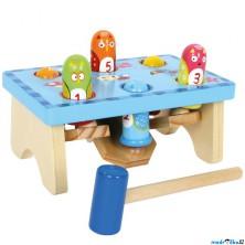 Zatloukačka - Dřevěná hra zatloukej ptáka (Legler)