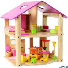 Domeček pro panenky - Růžový + nábytek (Voila)