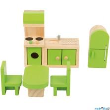 Nábytek pro panenky - Kuchyň dřevěná (Legler)