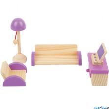 Nábytek pro panenky - Obývací pokoj dřevěný (Legler)