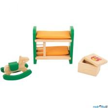 Nábytek pro panenky - Dětský pokoj dřevěný (Legler)