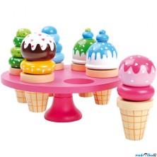 Kuchyň - Zmrzliny na stojanu dřevěné, 6ks (Legler)