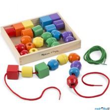 Navlékací perle - Maxikorále dřevěné, 30ks (M&D)