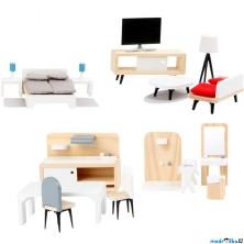 Nábytek pro panenky - Sada moderního nábytku (Legler)