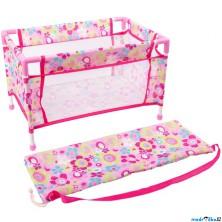 Postýlka pro panenky - Cestovní růžová (Legler)