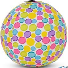 BubaBloon - Látkový nafukovací míč, Barevné pastelové puntíky