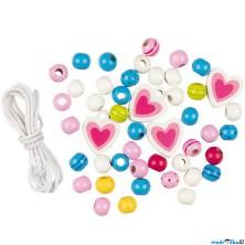 Navlékací perle - Dřevěné korálky Susibelle, 46ks (Goki)