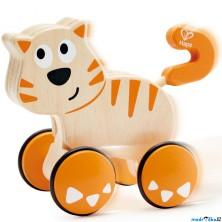 Zvířátko na kolečkách - Kočka Dante, zatlač a jeď (Hape)