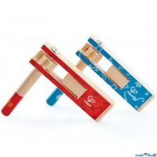 Hudba - Řehtačka dřevěná barevná, 1ks (Hape)