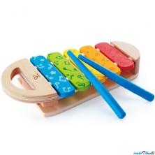 Hudba - Xylofon, Duhový dřevěný (Hape)