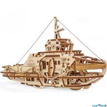 3D mechanický model - Loď remorkér (Ugears)