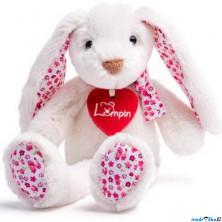 Lumpin - Zajíc Ella bílý, malý, 25cm