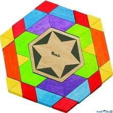 Mozaika - Dřevěné kostky, šestihran (Voila)