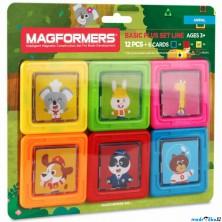 Magformers - Kartičky zvířátka, 12 ks