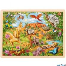 Puzzle na desce - Velké A3, Australská příroda, 96ks (Goki)
