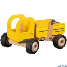 Auto - Dřevěný náklaďák s gumovými koly (Goki)