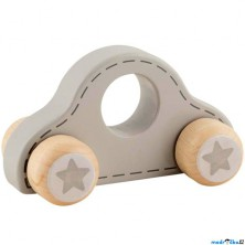 Auto - Šedé autíčko s hvězdičkami (Goki)