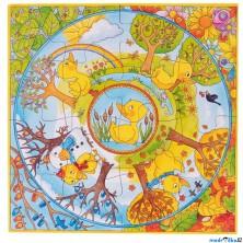 Puzzle pro nejmenší - XL, Rok s malou kačenkou, 16ks (Goki)