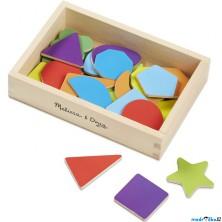 Magnetky - Tvary dřevěné, 25ks (M&D)
