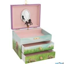 Šperkovnice - Hrací skříňka, Koník s dívenkou (Goki)