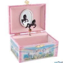 Šperkovnice - Hrací skříňka, Koníci (Goki)