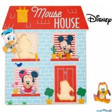 Puzzle vkládací - Domeček pro nejmenší, 4ks (Disney Derrson)