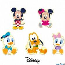 Puzzle pro nejmenší - Mickey a přátelé dřevěné, 16ks (Disney Derrson)