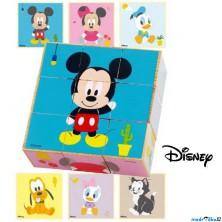 Kostky obrázkové 9ks - Dřevěné (Disney Derrson)