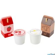 Dekorace prodejny - Sada mléčných výrobků (Legler)