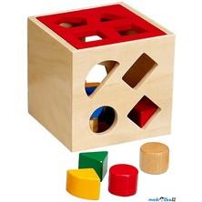 Vhazovačka - Vkládací krabička geometrické tvary (Woto)