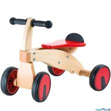 Odrážedlo - Čtyřkolka dřevěná červený závodník (Legler)