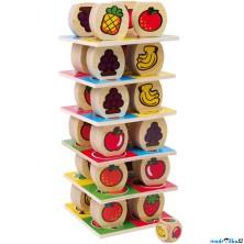 Motorická hra - Dřevěná ovocná věž (Legler)