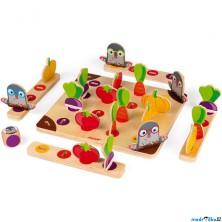 Společenská hra - Krtci na zahradě, dřevěná (Janod)