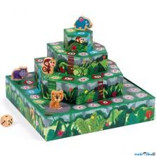 Společenská hra - Žebříky a hadi 3D, Džungle (Janod)