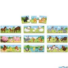 Puzzle z kartónu - Trionimo se zvířátky, 30 dílků (Janod)