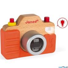 Fotoaparát dětský - Dřevěný se zvukem a světlem (Janod)