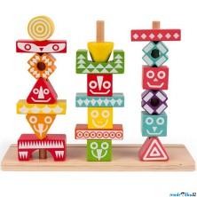 Skládačka - Nasazování na tyč, Indiánsky totem (Janod)