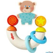 Chrastítko - Kroužek do ruky, Půlkruh medvídek (Haba)