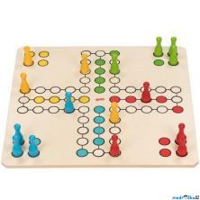 Společenská hra - XXL, Člověče nezlob se, 50x50cm (Goki)