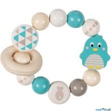 Chrastítko - Kroužek korálkový, Tučňák tyrkysový (Heimess)