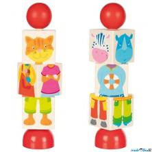 Hračka pro batolata - Otáčecí puzzle zvířátka, 1ks (Goki)