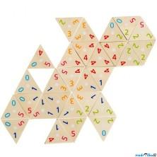 Domino - Tri-Domino trojúhelníky s čísly, 76ks (Go