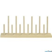 Prstoví maňásci - Dřevěný stojan na 12ks (Goki)